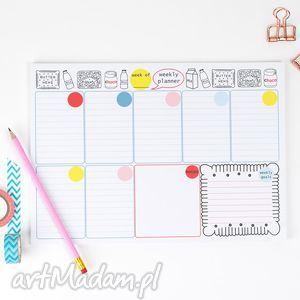 handmade notesy planer tygodniowy, plan tygodnia, notes a4, 50 kartek