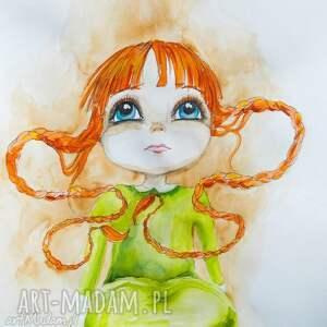 Obraz na płótnie MAŁA CZARODZIEJKA artystki plastyka Adriany Laube, dziewczynka