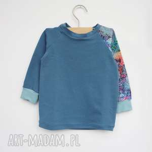Bluza dla dziewczynki LATO 104-128 cm, bluza-dresowa, bluza-błękitna