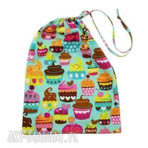 worek przedszkolaka, wzór muffiny, worek, przedszkolak, muffiny