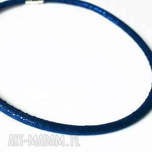 naszyjnik - obroża rzemień błyszczący, naszyjnik, rzemień, zapięcie, magnetyczne