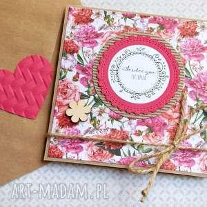 kartki serdeczne życzenia floral kartka handmade, ślub, imieniny