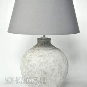 lampa stołowa archeo - white, stołowa, ceramiczna, vintage, diy, loftowa