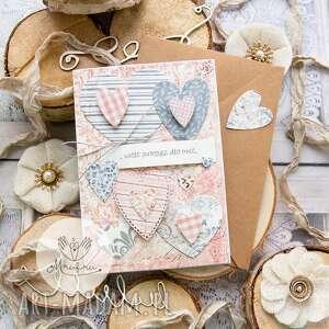 scrapbooking kartki kartka z sercami, przestrzenna miłosna walentynki