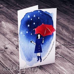 po deszczu TĘCZA... karteczka, kartka, okolicznościowa, motywacyjna, kobieca