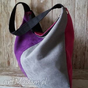 torebka hobo, torba, kolorowa, groszki, miejska, modna