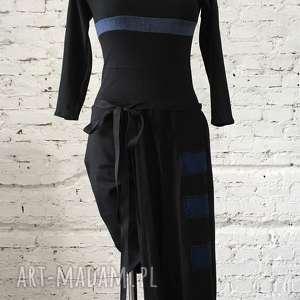 sukienki lalbay-kombinezon-sukienka, dresowy, czarny, luźny, wymyślny, wygodny