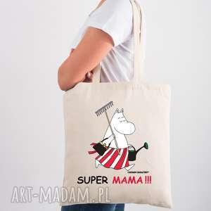 ręczne wykonanie licencjonowana torba muminki dla mamy super mama
