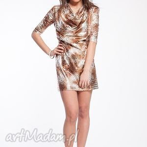 erin - sukienka 36 38 lampart, moda, karnawał, sylwester, bal