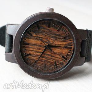drewniany zegarek new style ebony red, zegarek, drewniany, heban, hebanowy