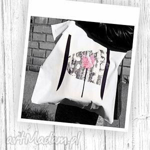 Torba na Zakupy z Tulipanem, torba, zakupy, ilustracja, bawełna, nadruk