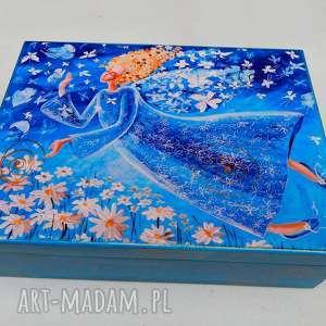 Szkatułka Lekkość bytu , anioł, kwiaty, lekkość, 4mara, szkatułka, pudełko