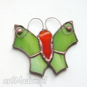 pod choinkę prezenty, zielinek ramienny, witraż, motyl, zawieszka