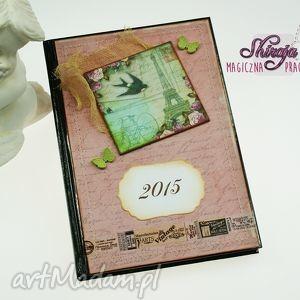 shiraja kalendarz 2015 -romantyczna pocztówka, kalendarz, książkowy, 2015, francja