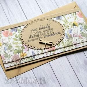 kartka kopertówka ślubna - na łące, ślub, ślubna, łąka, polne kwiaty