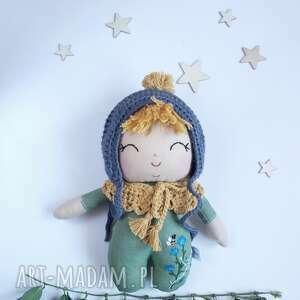 lalka leśny skrzat-chaberek, lniana lalka, bobas, leśna ekologiczna