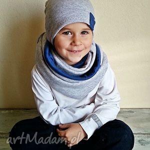 komplet czapka komin dla chłopca, szaliki, czapki