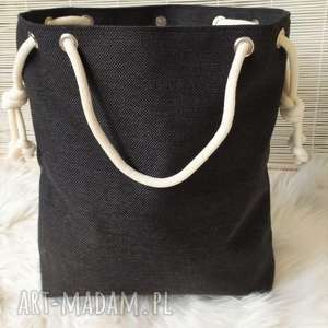 Torba worek czarna na ramię fabryqaprzytulanek torba, torebka