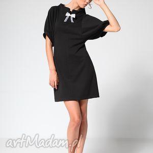 black classic 34, sukienka, tunika, moda, praca, biuro, jesień ubrania