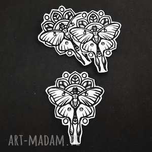 naszywka Mystique - Luna Moth - ,naszywka,ćma,motyl,haft,haftowana,filcowa,
