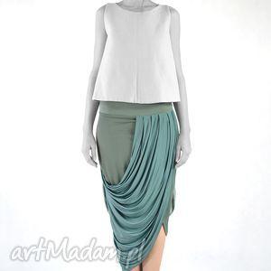 spódnice mizuna - spódnica, oryginalna, dzienna, praca, wieczorowa, draperia, prezent