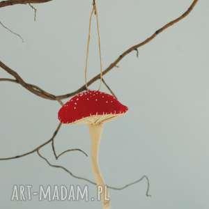 muchomorki - ,zawieszki,bombki,ozdoby,świąteczne,muchomorki,grzybki,