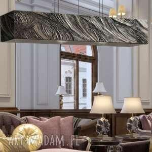 glamourossa - artystyczna lampa sufitowa do loftu, artystyna lampa, srebrna