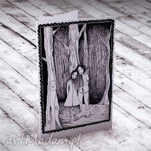 handmade kartki zakochani... karteczka ślubna