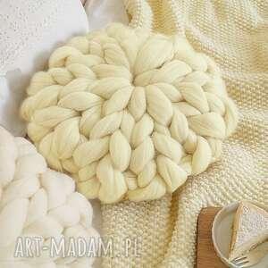 hand made poduszki poduszka czesankowa naturalna
