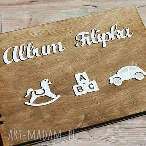 album na zdjęcia - chłopiec, album, zdjęcia, drewno, chrzest, roczek, eko