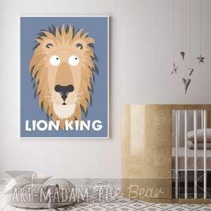 plakat król lew format a4, lew, plakat, obrazek, król, dziecko, pokoik