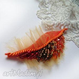 jesienny liść - broszka jesień