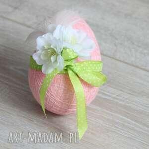 różowa pisanka kwiaty pióra, wielkanoc, jajko, pisanka, romantyczna