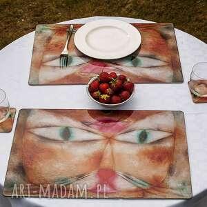 podkładka na stół duża z obrazem paula klee kot i ptak, podkładka, dekoracje