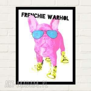 FRENCHIE WARHOL Plakat 30x40, plakat