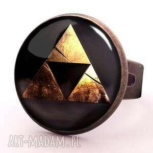 handmade pierścionki zelda triforce - pierścionek regulowany
