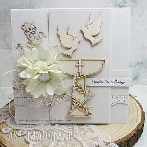W bieli-Pamiątka Chrztu Świętego, chrzest, scrapbooking, dla-niemowlaka