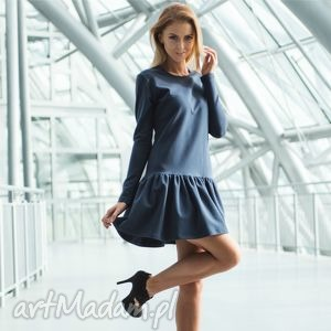handmade sukienki flounce | sukienka dresowa z falbaną