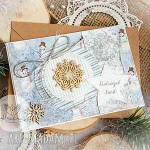 hand-made pomysł na upominek świąteczny piękna kartka święta bożego narodzenia