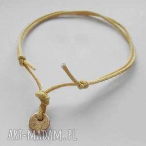 OKRĄG bransoletka, brąż, okrągle, sznurek