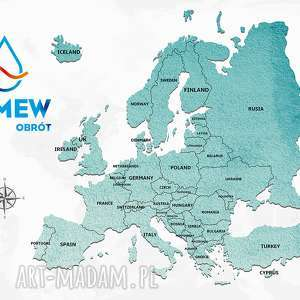 obraz na korku mapa europy 90x60cm, obraz
