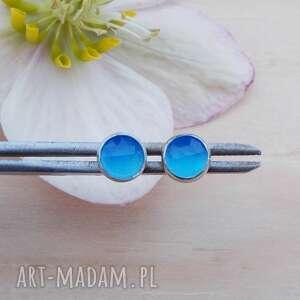 intensywne niebieskości - kolczyki, kolczyki srebro, srebrne sztyfty, srebrna