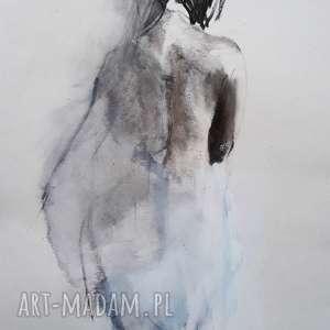 zarys kobiety, kobieta grafika, czarno biała grafika do salonu, obrazek