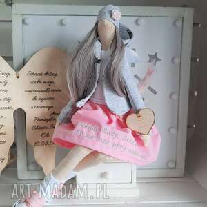 lalki anioł pamiątka pierwszej komunii świętej, anioł, lalka