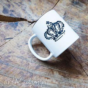 yurcov korona kubek z koroną duży i pojemny 330 ml, crown, black, prezent, mugs, cup