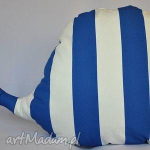 wieloryb zabawka piękna ozdoba prezent handmade - wieloryb, pasy, zabawka, pokój