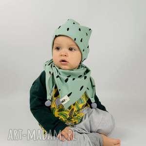 czapka plamki, czapka, beanie, mięta, jesienna, bawełna, dziecięca