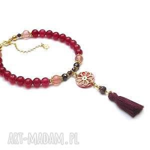 hand-made biżuteria strawberry shake - bransoletka