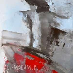 red, duży obraz, obraz z czerwienią, czerwony do salonu, kobieta