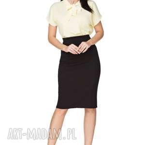 Elegancka bluzka z szyfonu t223, jasnożółta bluzki tessita